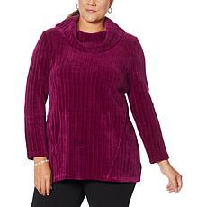 Nina Leonard Long-Sleeve Cowl Neck Sweater Tunic