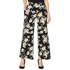 Nina Leonard Stretch Crepe Wide Leg Pant with Pockets