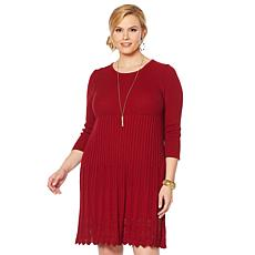 Nina Leonard Sweater Knit Dress