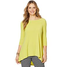 Nina Leonard Tunic with Pleat