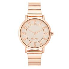 Nine West Women's Rosetone Glitter Dot Watch