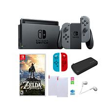 Nintendo Gray Switch Bundle with Legend of Zelda Game