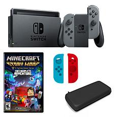 "Nintendo Switch in Gray with ""Minecraft Story Mode"" and Accessories"