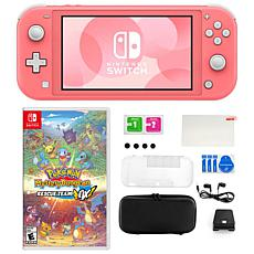 Nintendo Switch Lite in Coral with Pokemon Dungeon Rescue and Acces...