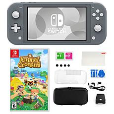 Nintendo Switch Lite in Gray with Animal Crossing New Horizons and ...