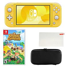 Nintendo Switch Lite in Yellow w/Animal Crossing Game and Accessories