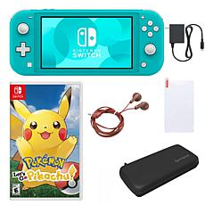 Nintendo Switch Lite  with Let's Go Pikachu & Accessories - Turquoise