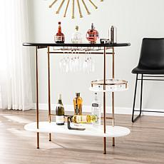 Nondelle Wine/Bar Table with Glassware Storage