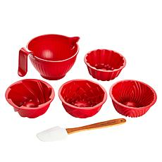 Nordic Ware 4-piece Mini Microwave Bundts with Bowl and Spatula