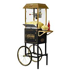 "Nostalgia 59""T Vintage Collection 10oz. Kettle Popcorn Cart - Black"