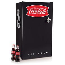 Nostalgia CRF32BKCK 3.2 Cu. Ft. Coke Refrigerator - Black/Red