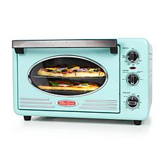 Nostalgia Retro 12-Slice Convection Toaster Oven in Aqua