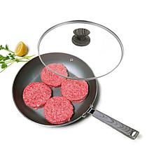 """Not A Square Pan 12"""" Nonstick Frypan with Cover"""