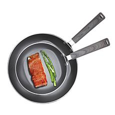 """Not A Square Pan 2pc Nonstick Frypan Set - 8"""" and 12"""""""