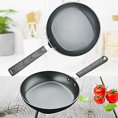 """Not A Square Pan 8"""" Nonstick Frypan 2-pack"""