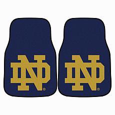 Notre Dame Carpet Car Mat Set - 2 Pieces