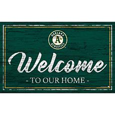 """Oakland Athletics Team Color Welcome Sign - 11x19"""""""