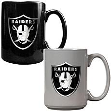 Oakland Raiders 2pc Coffee Mug Set