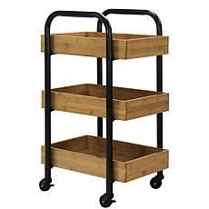 Oceanstar Portable 3-Tray Storage Cart