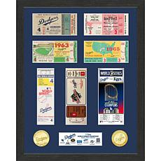 Officially Licensed 7X World Series Champs Ticket Collection - Dodgers