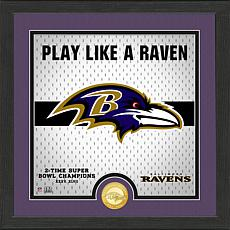 Officially Licensed Battle Cry Bronze Photo Mint - Ravens