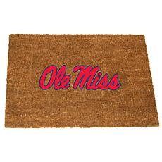 Officially Licensed Colored Logo Door Mat - Mississippi