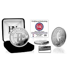 Officially Licensed Detroit Pistons Silver Mint Coin