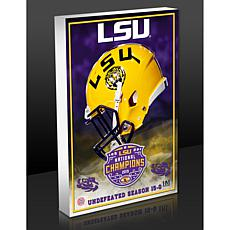 Officially Licensed LSU 2019 Football Champions Acrylic BlocKart