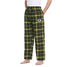 Officially Licensed Men's Plaid Flannel Pant by Concept Sports-Packers
