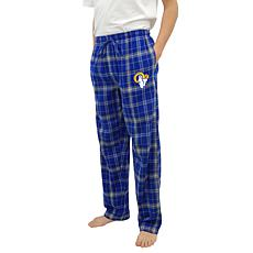 Officially Licensed Men's Plaid Flannel Pant by Concept Sports - Rams