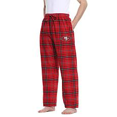Officially Licensed Men's Plaid Flannel Pant by Concept Sports - 49ers