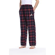 Officially Licensed Men's Plaid Flannel Pant by Concepts Sport-Braves