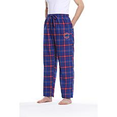 Officially Licensed Men's Plaid Flannel Pant by Concepts Sport-Cubs