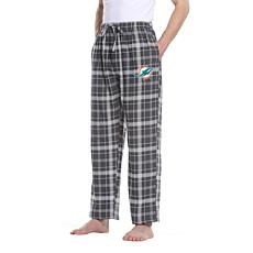 Officially Licensed Men's Plaid Flannel Pant, Concept Sports- Dolphins