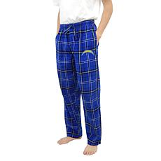 Officially Licensed Men's Plaid Flannel Pant, Concept Sports- Chargers