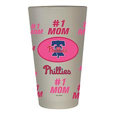 """Officially Licensed MLB """"#1 Mom"""" Frosted Pint Glass - Pirates"""