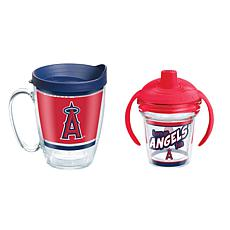 Officially Licensed MLB 16oz. Coffee Mug and 6oz. Sippy Cup- LA Angels