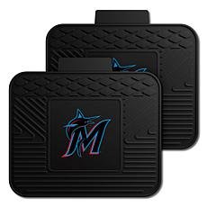 Officially Licensed MLB 2-Piece Utility Mat Set - Miami Marlins