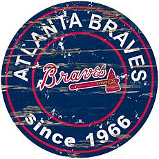 "Officially Licensed MLB 24"" Established Date Sign - Atlanta Braves"