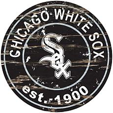"""Officially Licensed MLB 24"""" Established Date Sign - Chicago White Sox"""