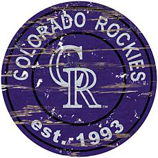 "Officially Licensed MLB 24"" Established Date Sign - Colorado Rockies"