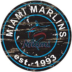"Officially Licensed MLB 24"" Established Date Sign - Miami Marlins"