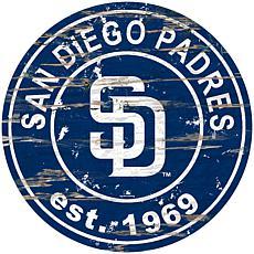 "Officially Licensed MLB 24"" Established Date Sign - San Diego Padres"