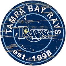 """Officially Licensed MLB 24"""" Established Date Sign - Tampa Bay Rays"""