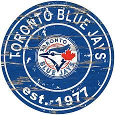 """Officially Licensed MLB 24"""" Established Date Sign - Toronto Blue Jays"""