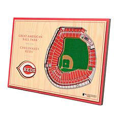 Officially-Licensed MLB 3-D StadiumViews Display - Cincinnati Reds