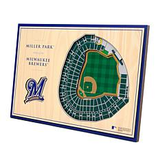 Officially-Licensed MLB 3-D StadiumViews Display - Milwaukee Brewers