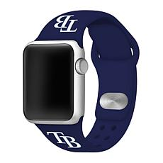 Officially Licensed MLB 42/44mm Apple Watch Band - Tampa Bay Rays