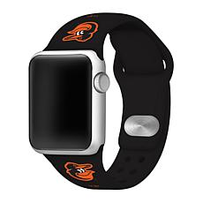 Officially Licensed MLB 42mm/40mm Silicone Apple Watchband - Orioles