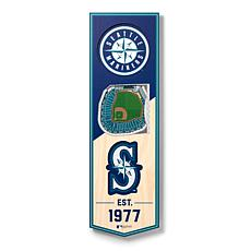 "Officially Licensed MLB 6"" x 19"" 3-D Stadium Banner - Seattle Mariners"